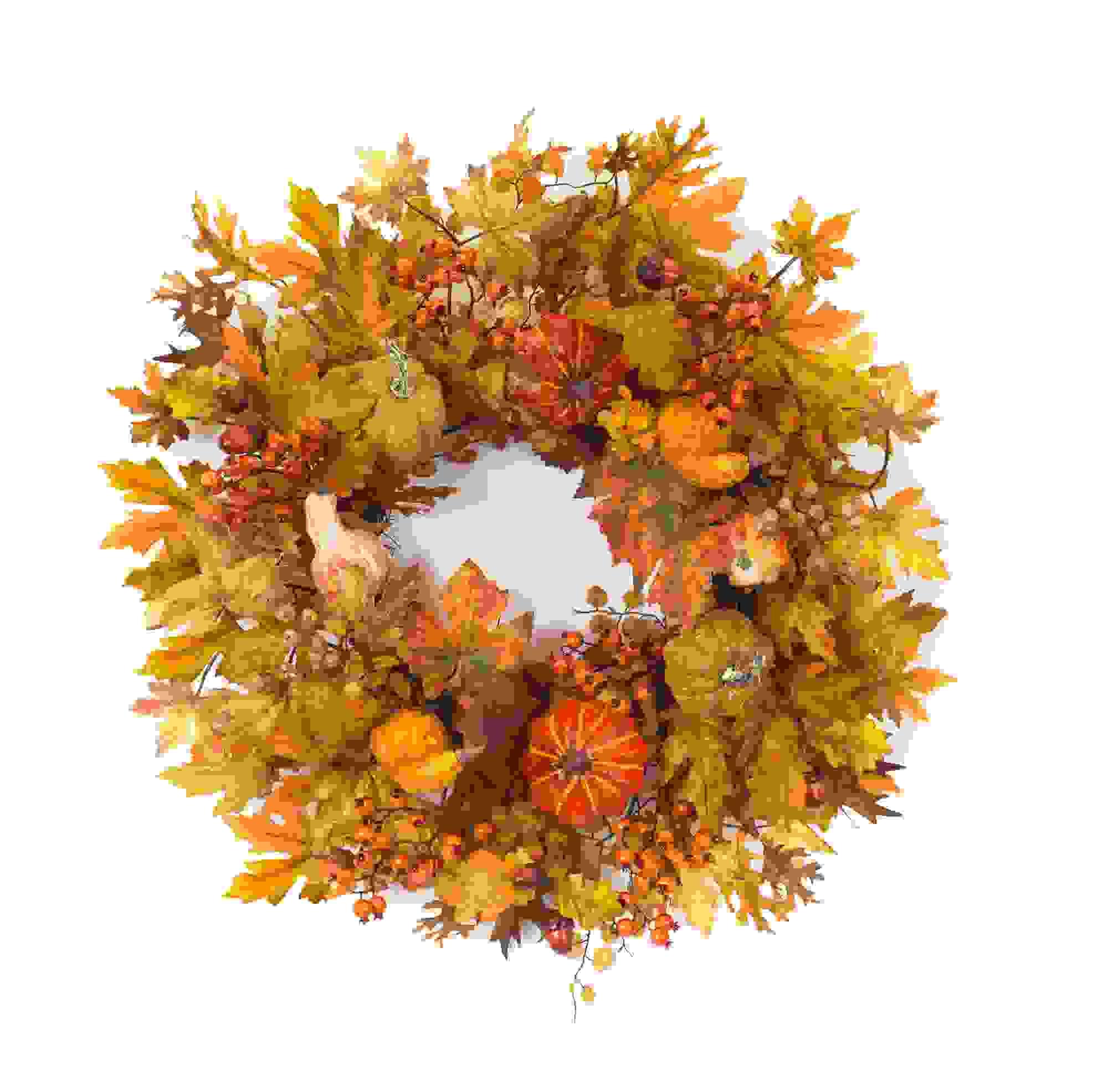 "Harvest Wreath 24""D Polyester"