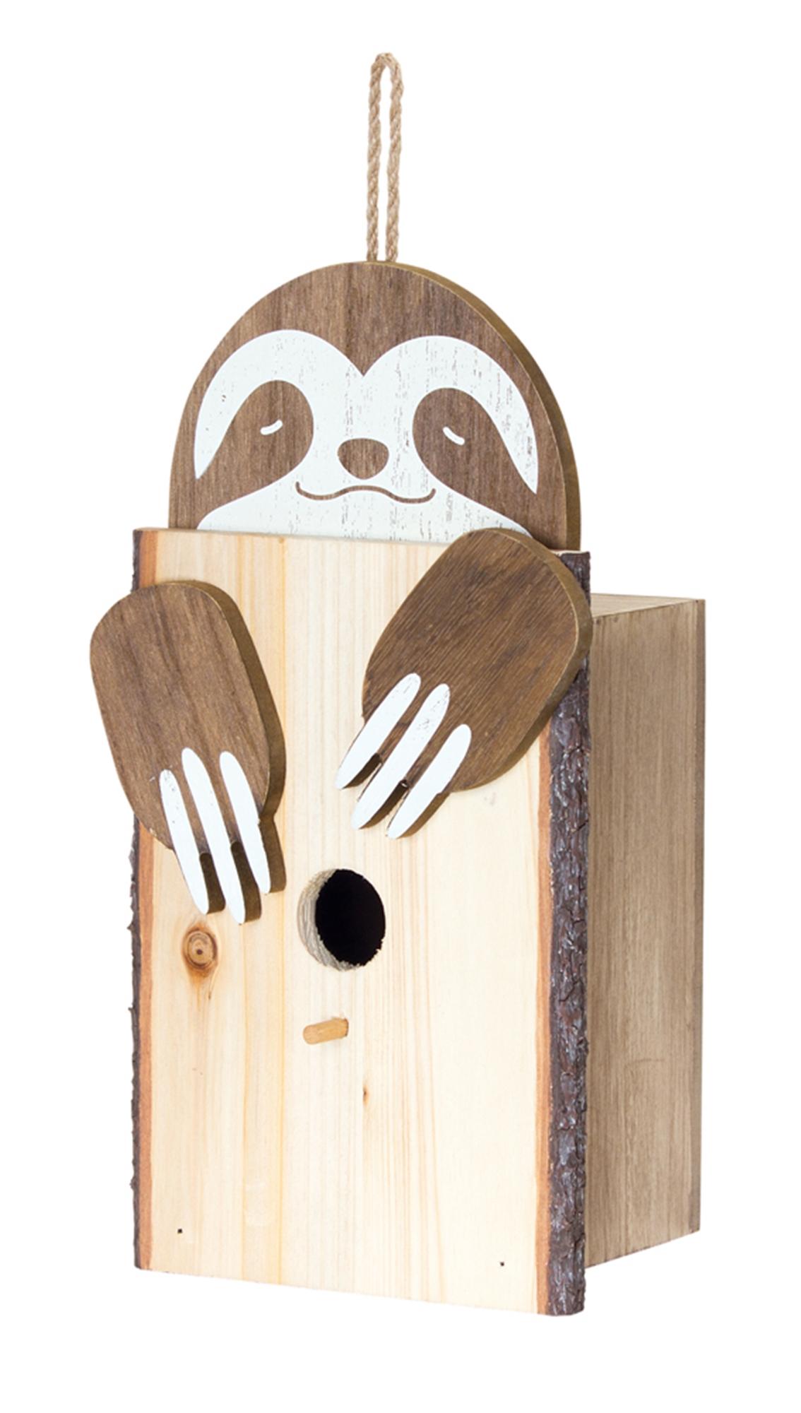 "Sloth Birdhouse (Set of 2) 6.25"" x 12""H MDF/Wood"