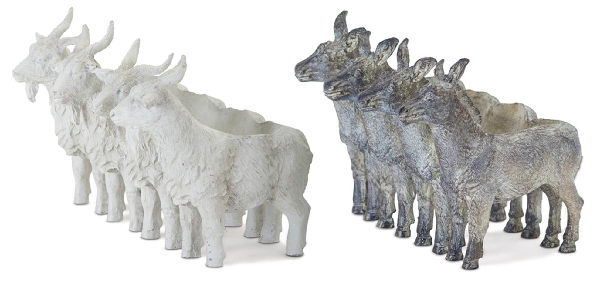 """Donkey/Goat X4 (Set of 2) 5.5"""" x 6.5""""H Resin/Stone Powder"""