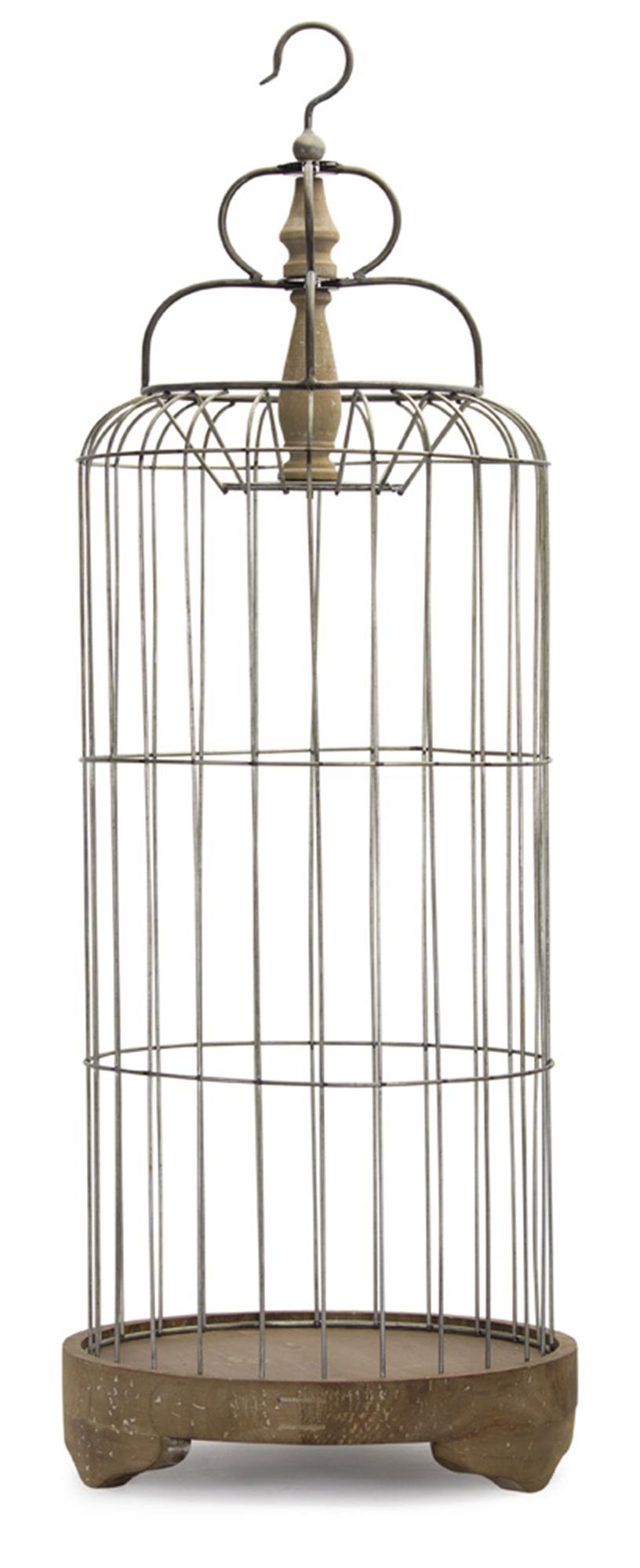 "Bird Cage 41""H Iron/Wood"
