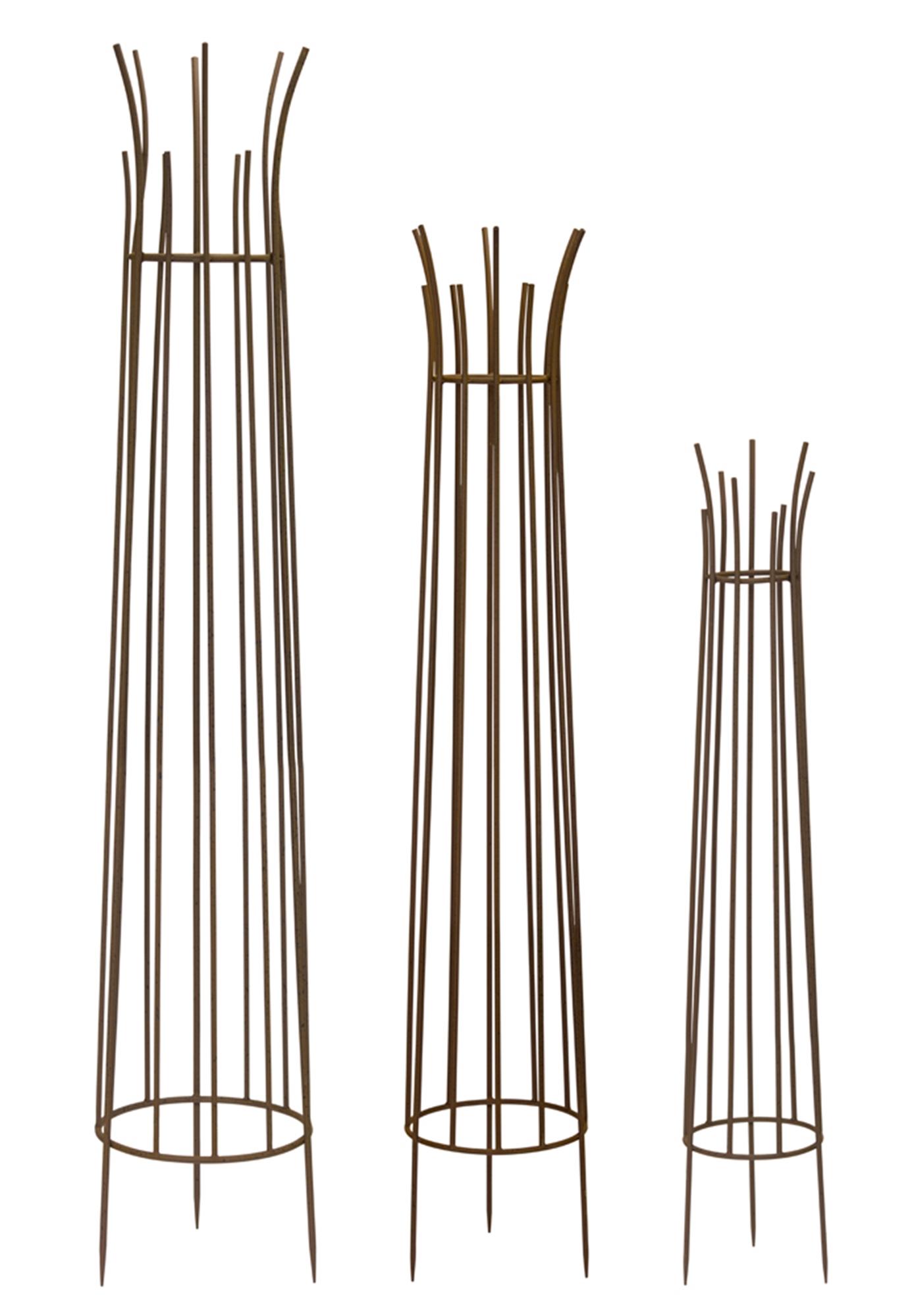 """Obelisks (Set of 3) 46.75""""H, 59""""H, 66""""H"""
