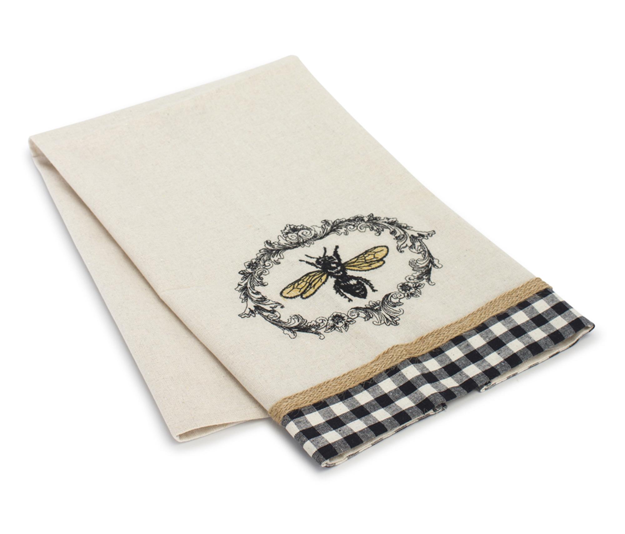 "Bee Tea Towel (Set of 6) 27.25"" x 17"" Polyester"