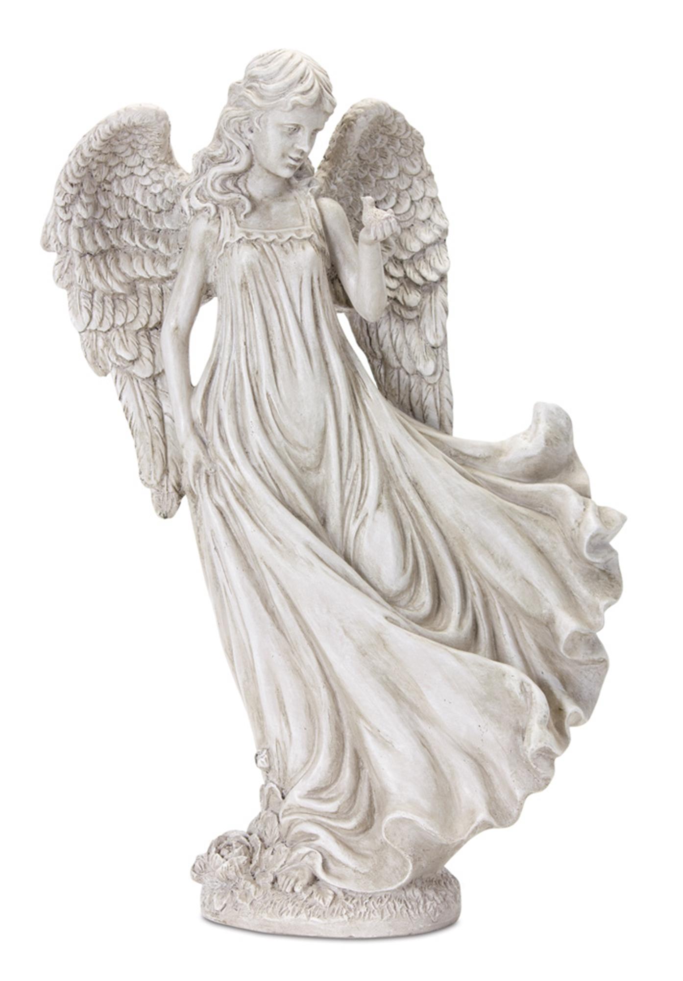 "Angel 15""H Resin/Stone Powder"