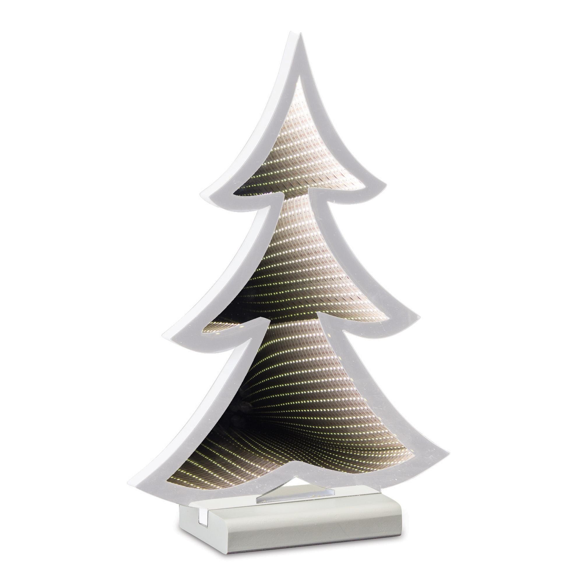 "Infinity Light Tree 8.75""L x 12.5""H (Set of 2) Acrylic/EVA"