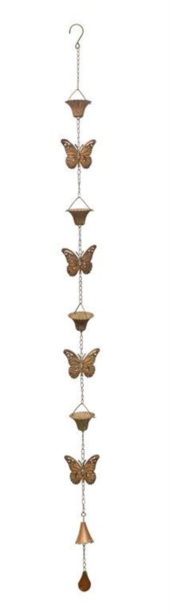 "Butterfly Rain Chain 61.5""L Iron"