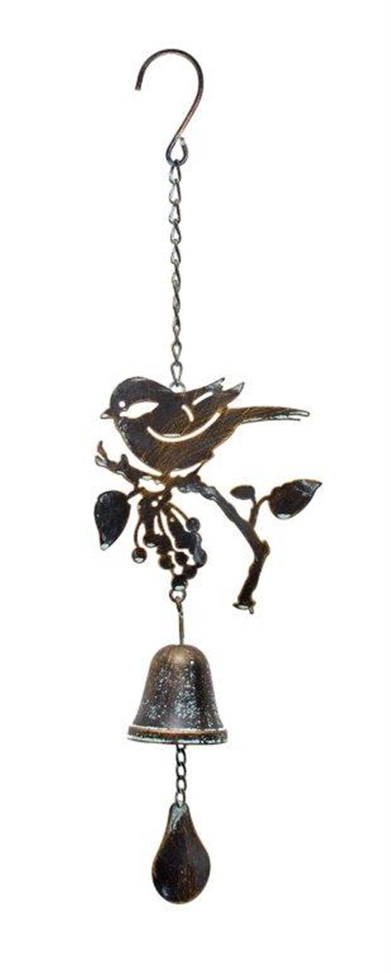 """Bird Wind Chime 20.5""""L Iron"""