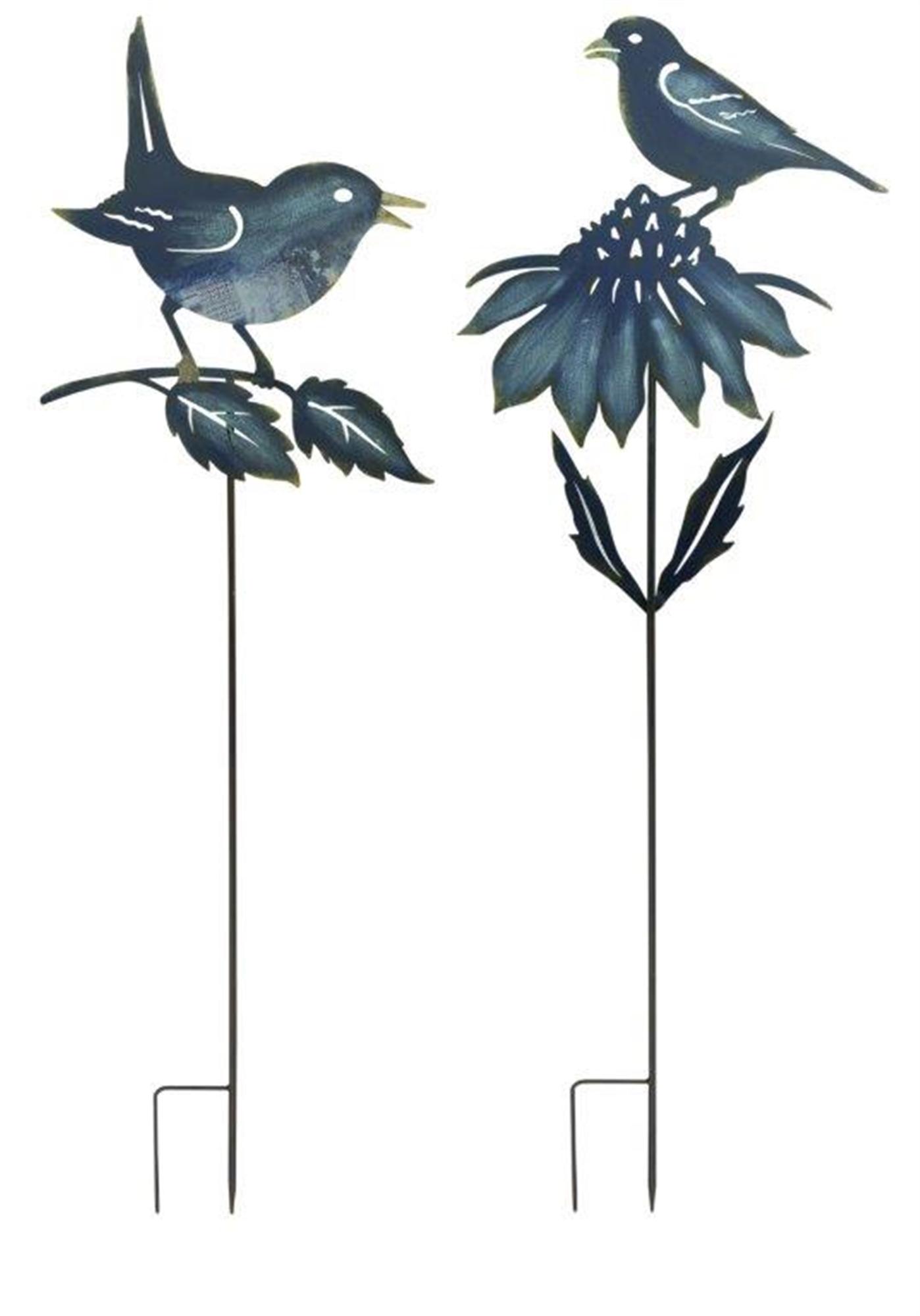 "Bird Garden Stake (Set of 2) 45""H, 50""H Iron"