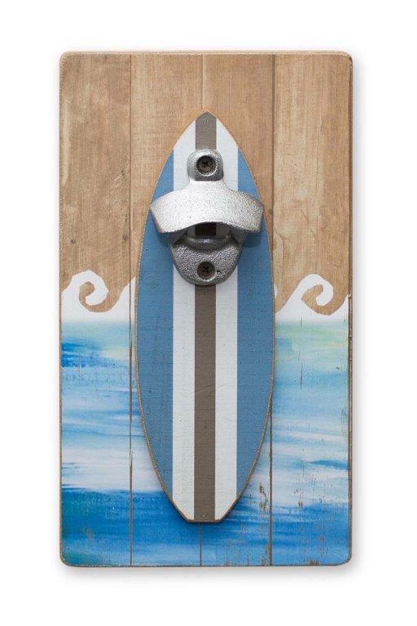 "Surfboard Bottle Opener 6""L x 11""H MDF"
