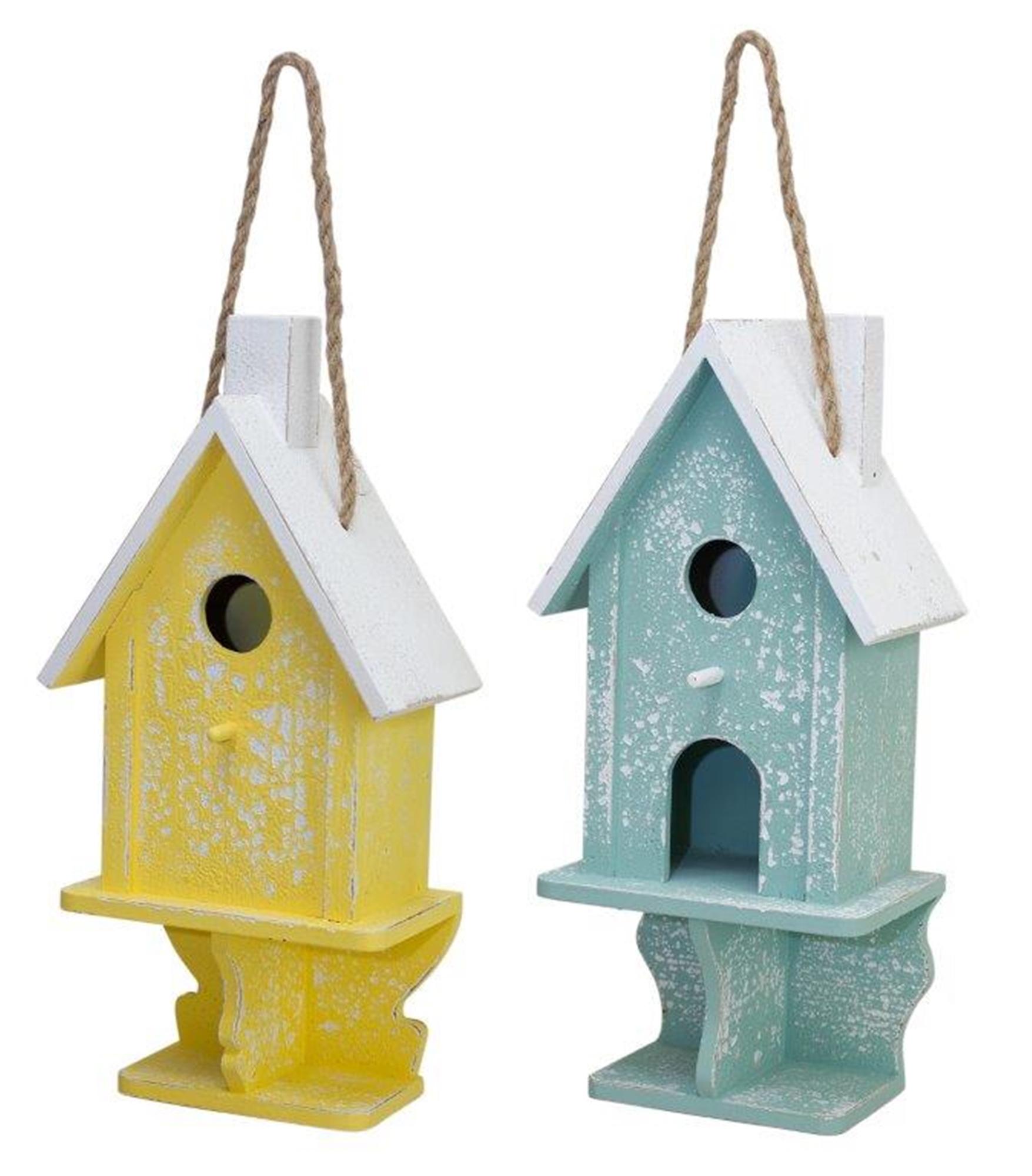 "Bird House (Set of 2) 7.5""L x 16.75""H Wood"