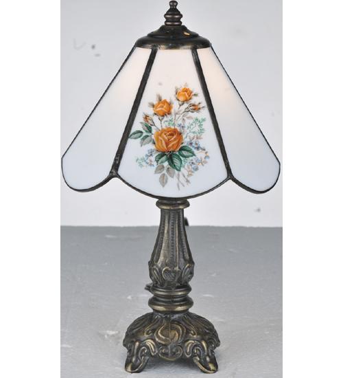 "11.5""H Rose Bouquet Mini Lamp"