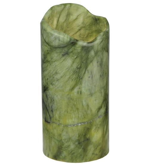 "3.5""W Cylindre Green Jadestone Shade"