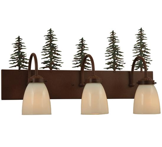 "24"" Wide Tall Pines 3 Light Vanity Light"