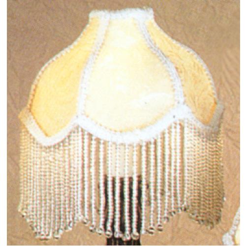 """6""""W Fabric & Fringe Recurve Ivory Shade"""