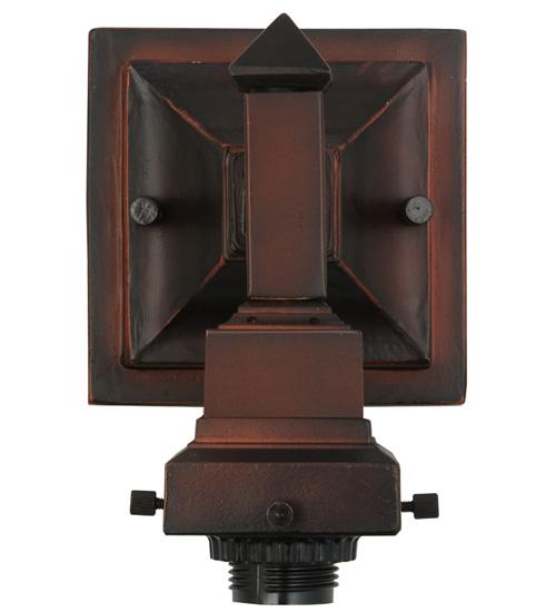"5""W Mission Mahogany Bronze 1 LT Wall Sconce Hardware"
