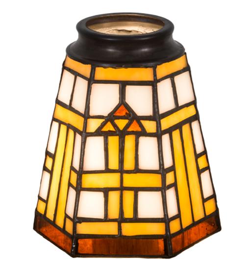 """4""""W Arrowhead Mission Fan Light Shade"""