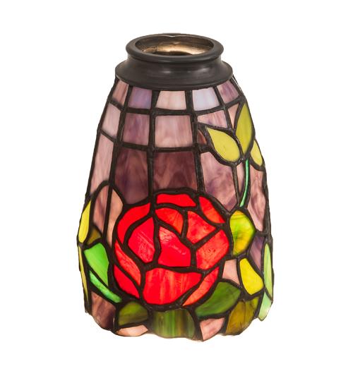 """4""""W Rosebush Fan Light Shade"""