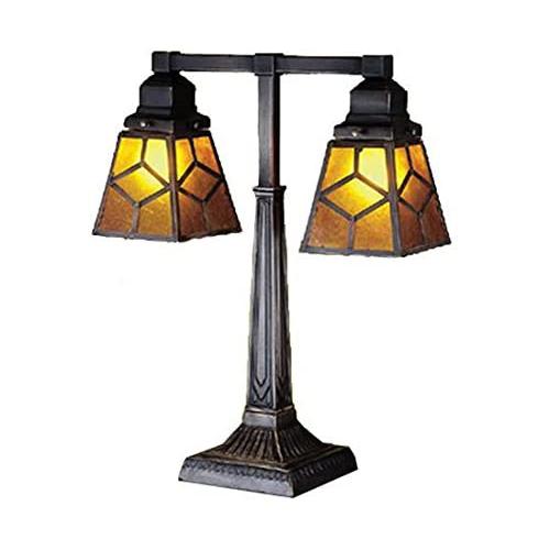 "20"" High Diamond Craftsman 2 Arm Desk Lamp"