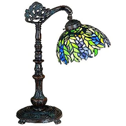 "19""H Tiffany Honey Locust Desk Lamp"