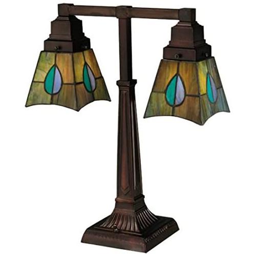 "19.5""H Mackintosh Leaf 2 Arm Desk Lamp"