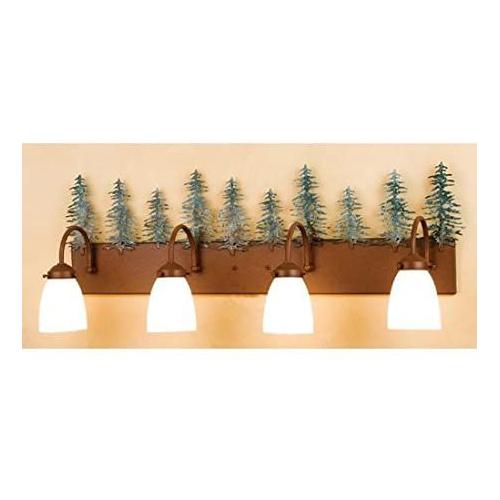 "35""W Tall Pines 4 LT Vanity Light"