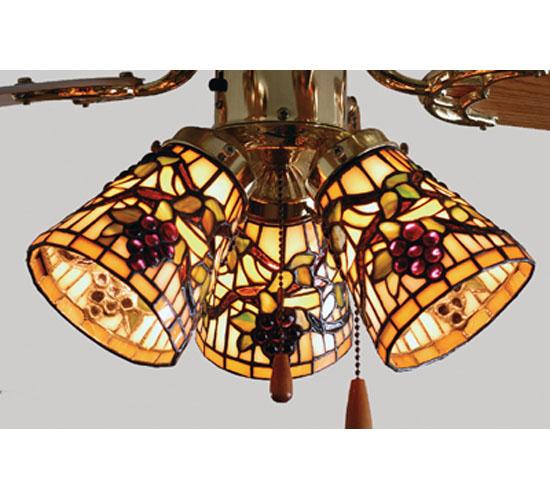 "4""W Jeweled Grape Fan Light Shade"