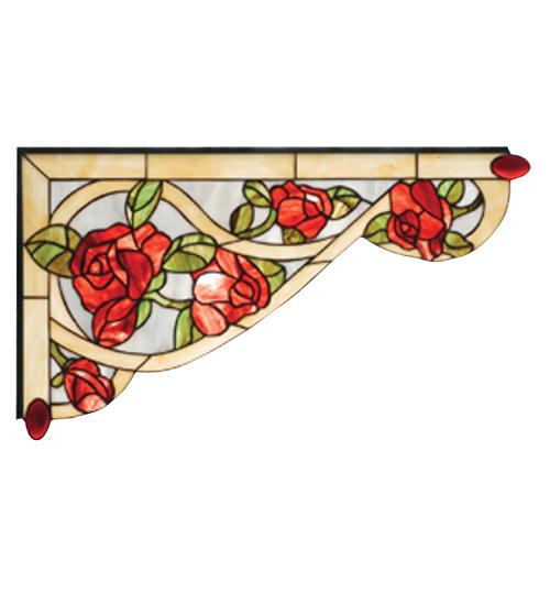 "23""W X 13""H Bed of Roses Left Corner Bracket"
