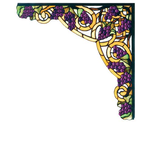 "13""W X 13""H Jeweled Grape Corner Bracket"