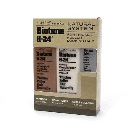 Mill Creek Biotene H-24 Tri-Pack Shampoo Conditioner Scalp Emulsion 1 Set