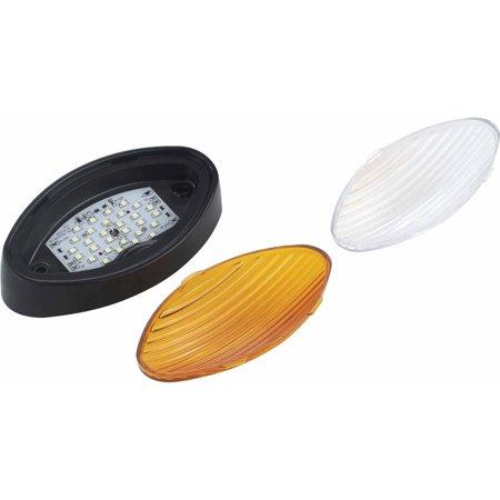 BLACK LED OVAL LIGHT 110-170LUM