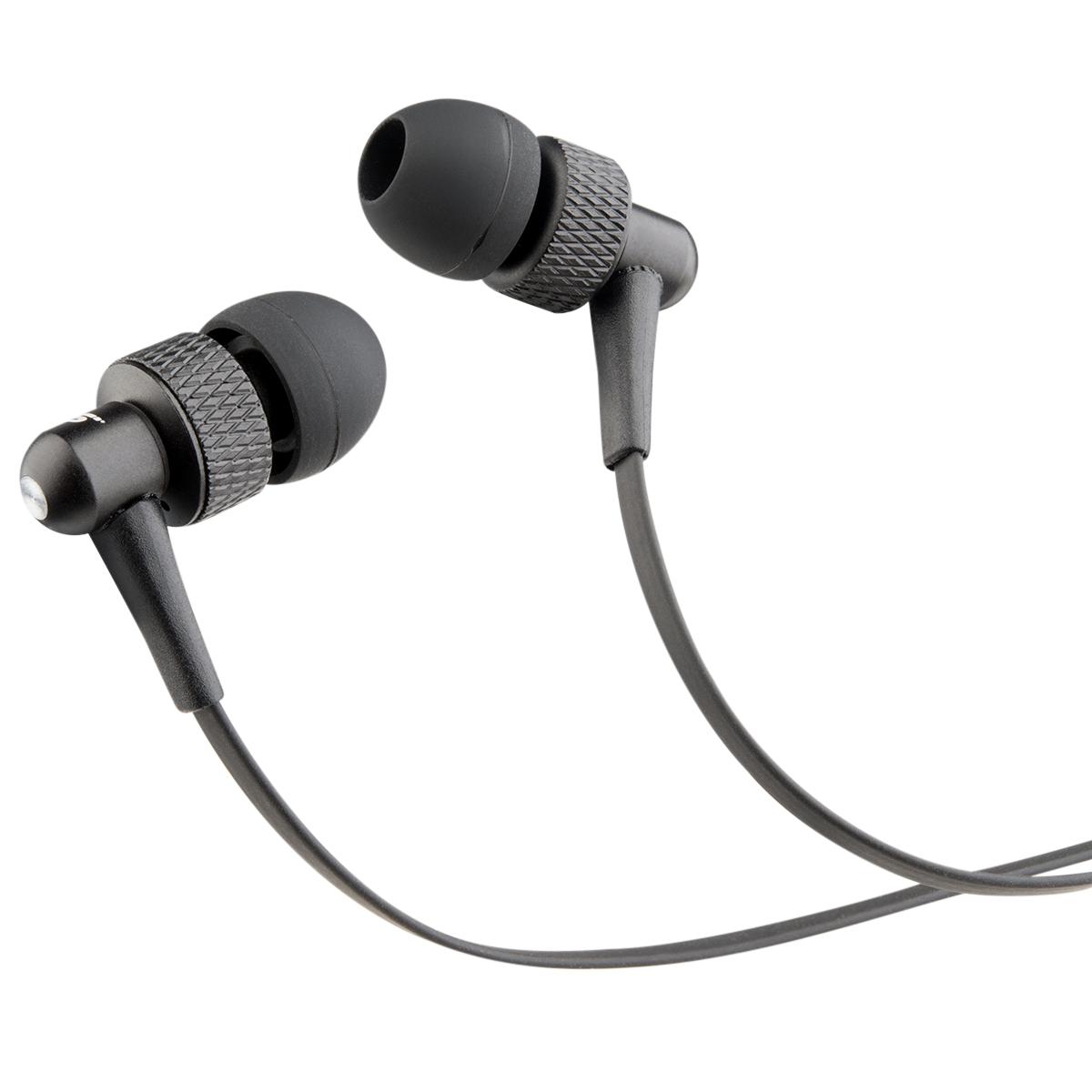 METAL EARBUDS - BLACK