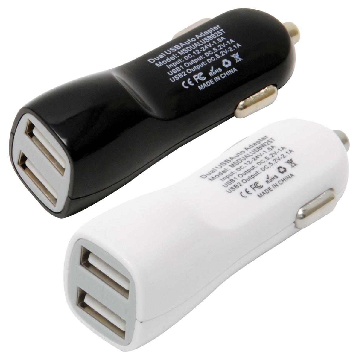 MOBILESPEC DC USB DUAL BLK/WH