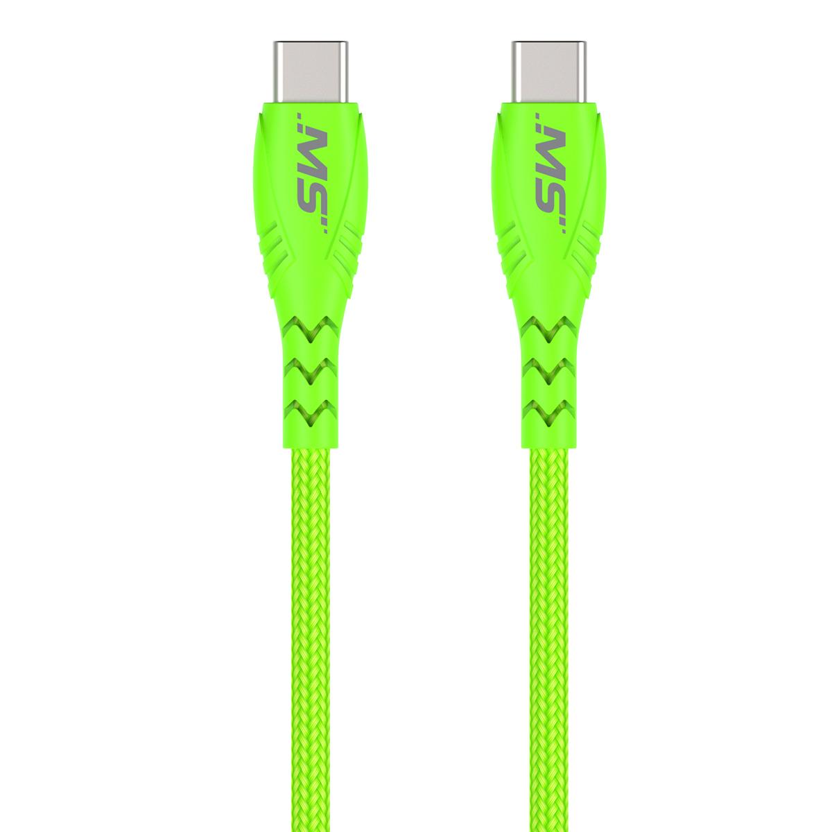 MS 10 HI VIS USB-C TO USB-C CABLE GR
