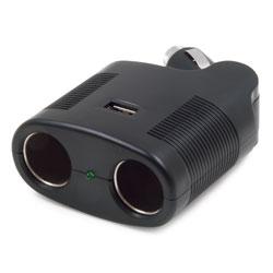 12V 2-Way Swivel Plug Adapter