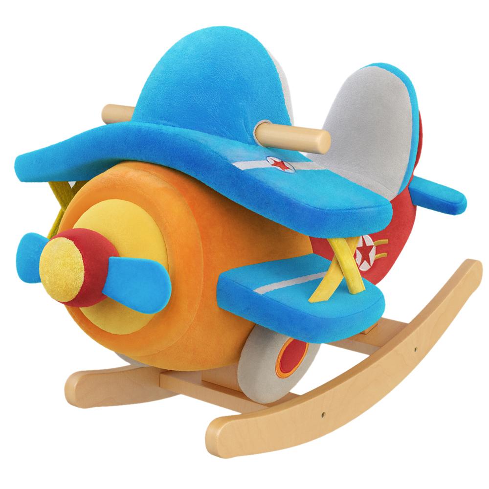 Theodore Airplane Kids' Rocker with Music