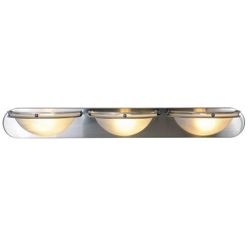 "36"" Contemporary 3 Lights Vanity Fixture, Brushed Nickel"