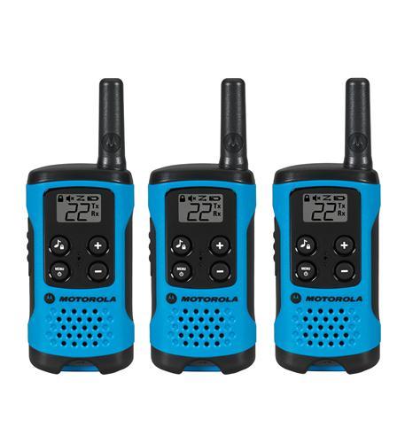 T100TP 3 Pack 16 Mile Range Blue Radios