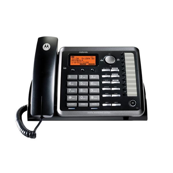 Motorola ML25254 ML25254 2-Line Corded Desk Phone Digital Answering System