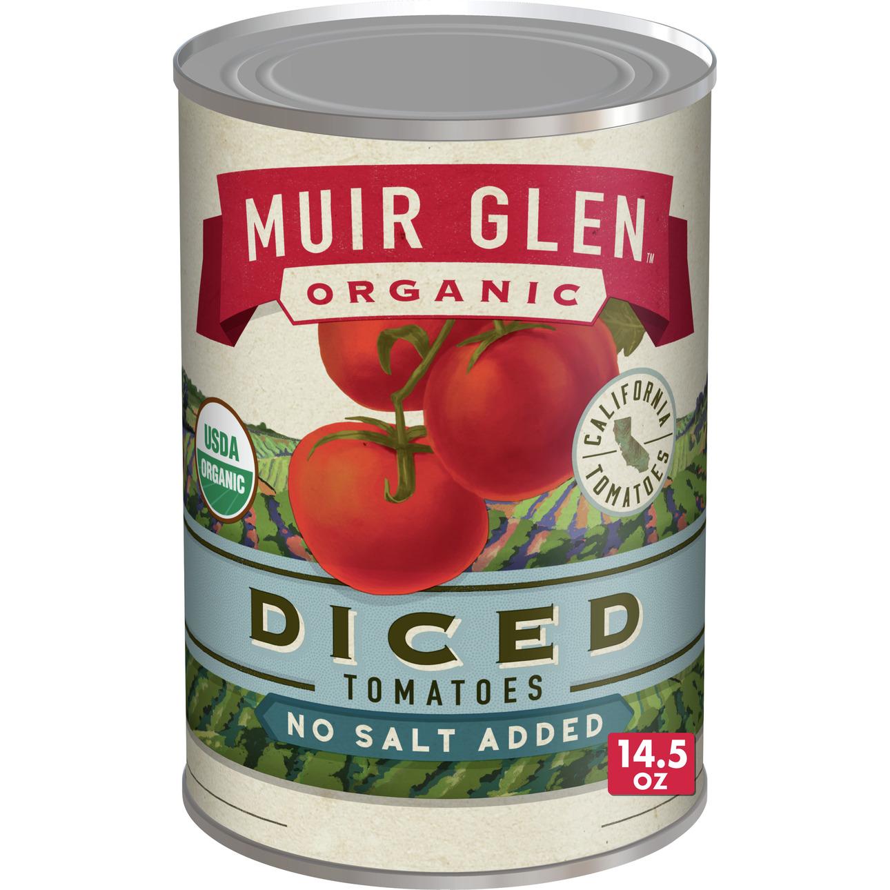 Muir Glen Diced Tomato No Salt (12x145 Oz)