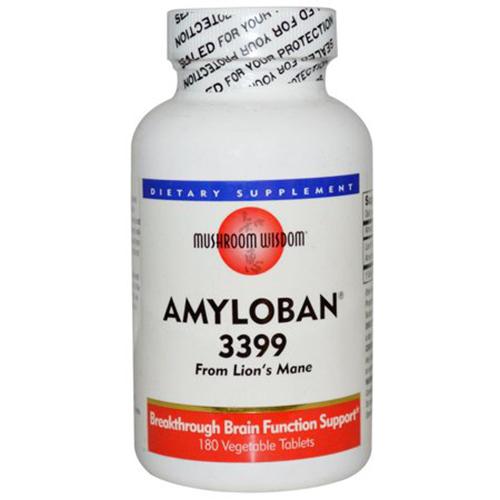 Mushroom Wisdom Amyloban 3399 180 Tablets