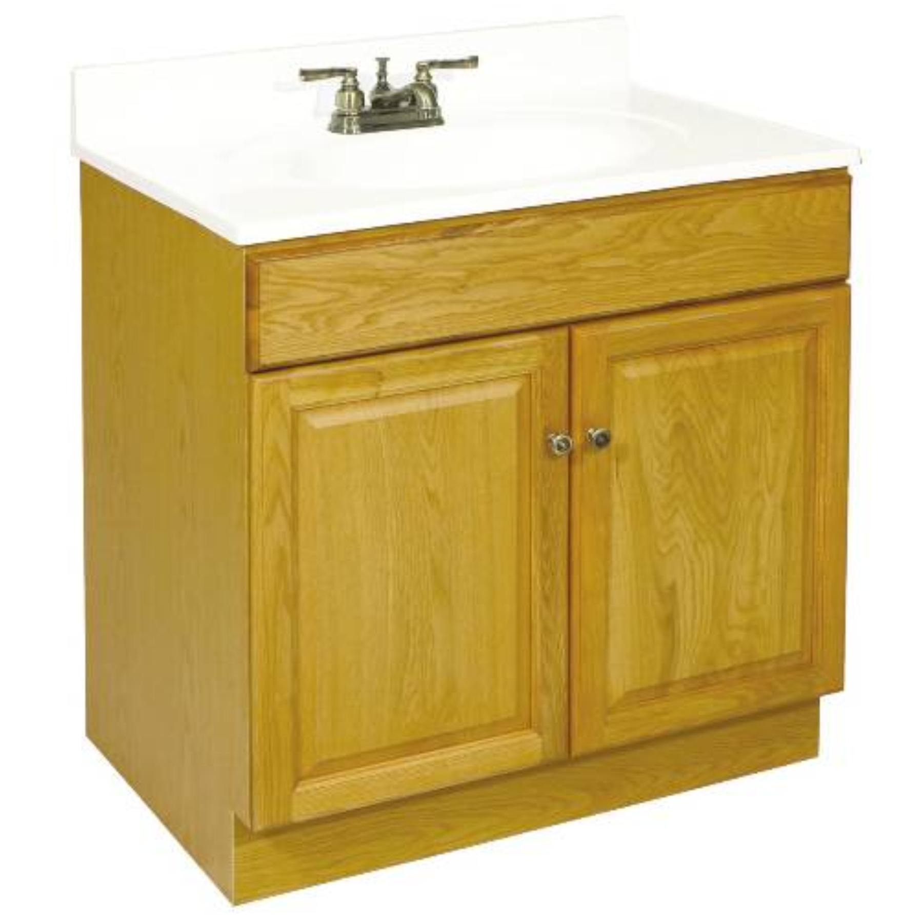 """24"""" x 21.5"""" Claremont Bathroom Vanity Cabinet, Ready To Assemble, 2 Door, Honey Oak"""