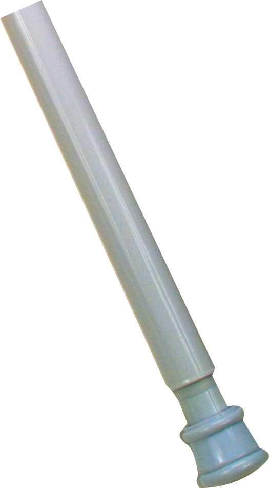 ADJUSTABLE SHOWER ROD, WHITE