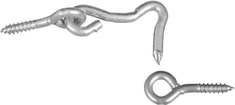 V2000 1 In. Zinc Hook & Eye
