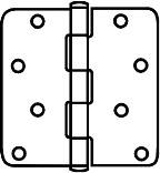 V512R58 3-1/2 PEWTER DOOR HING