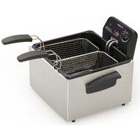 ProFry 05466/05464 Deep Fryer, 12 Cup, 1800 W, 2 Basket, Stainless Steel
