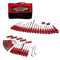 North American Tool 52344 Screwdriver/Nutdriver Set, 100 Pieces