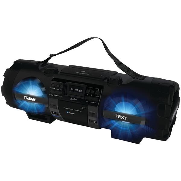 NAXA NPB-262 CD/MP3 Bass Reflex Boom Box & PA System with Bluetooth