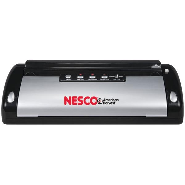 Nesco VS-02 Vacuum Sealer (130-Watt; Black & Silver)