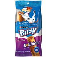 Nestle Purina 7000203080 Busy Rollhide Dog Treats, Beefhide Strips, 4 Oz