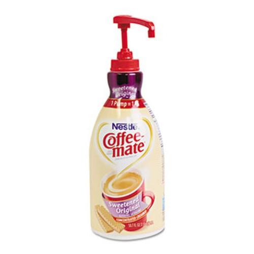 Liquid Coffee Creamer, Sweetened Original, 1.5 Liter Pump Bottle, 2/Carton