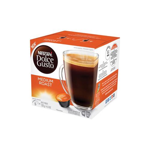 Coffee Capsules, Medium Roast, 12 oz, Capsule, 3/Carton